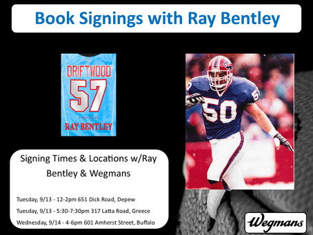 Wegmans to Host Ray Bentley for multiple Book Signings