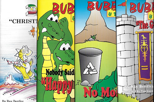 Bubba Gator and Darby the Dinosaur.  Four Books!