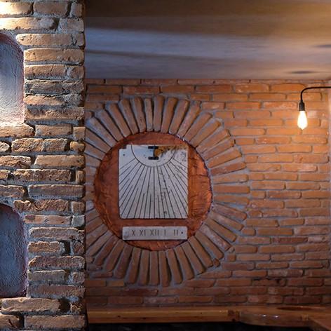 Sundial and Clay Pot corner