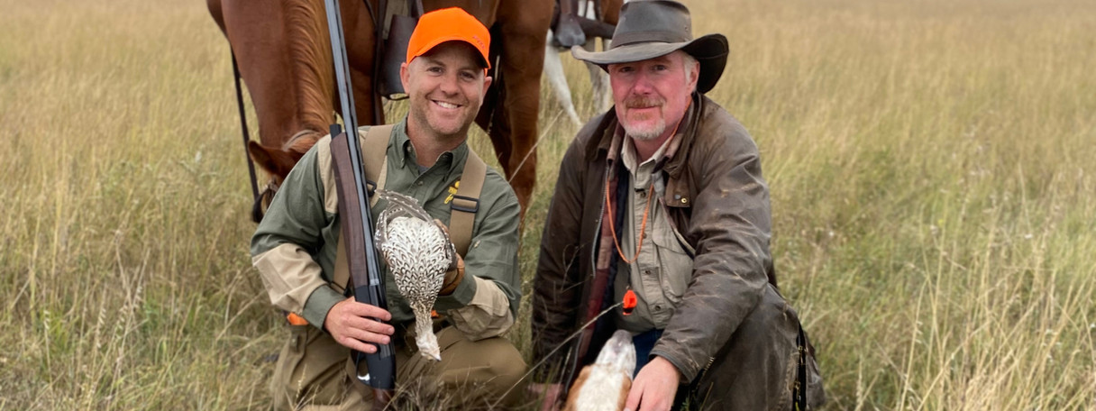 prairie chicken, sharp tail grouse, upland gamebird hunting, wingshootng, horseback hunting, english setter, The Flush TV Show