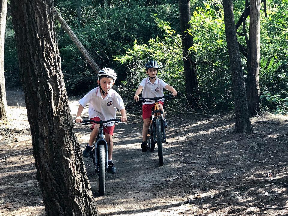 Two boys riding mountain bike trail.jpg