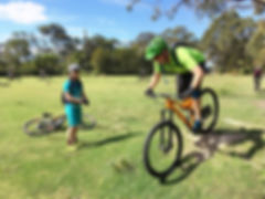 Mountain bike coaching lesson at Bantry Bay reserve in Seaforth