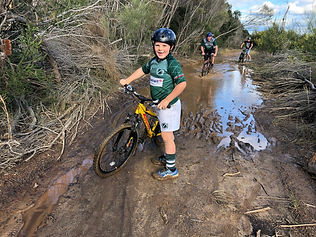 boy mountain biking