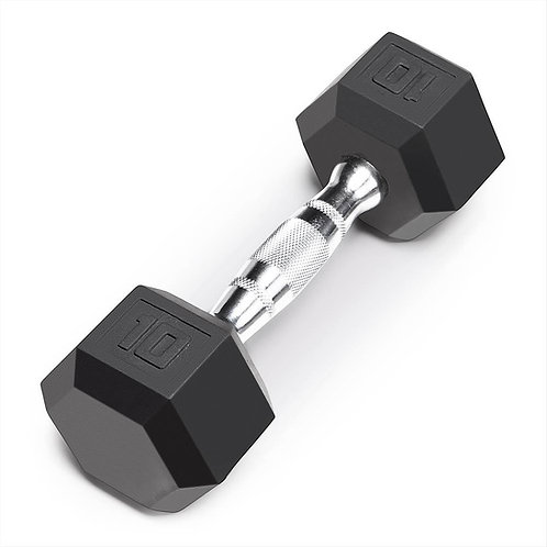 Dumbbell (Pair)10 LB. USA 6 Sided Rubber Hex