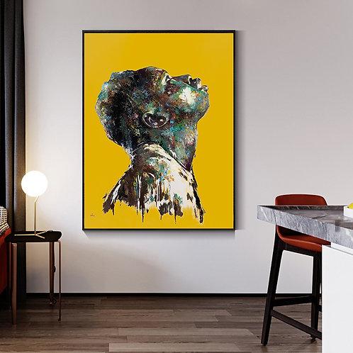 'PRAYER' - Yellow background
