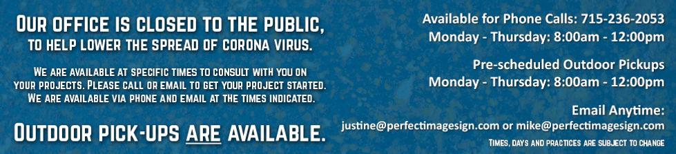 Coronavirus Shut Down-Website-Closed to