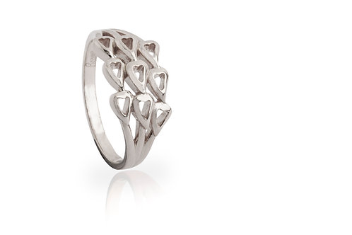 'Shukra', White Gold Ring
