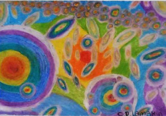 Oil pastel on card Craig Lambkin