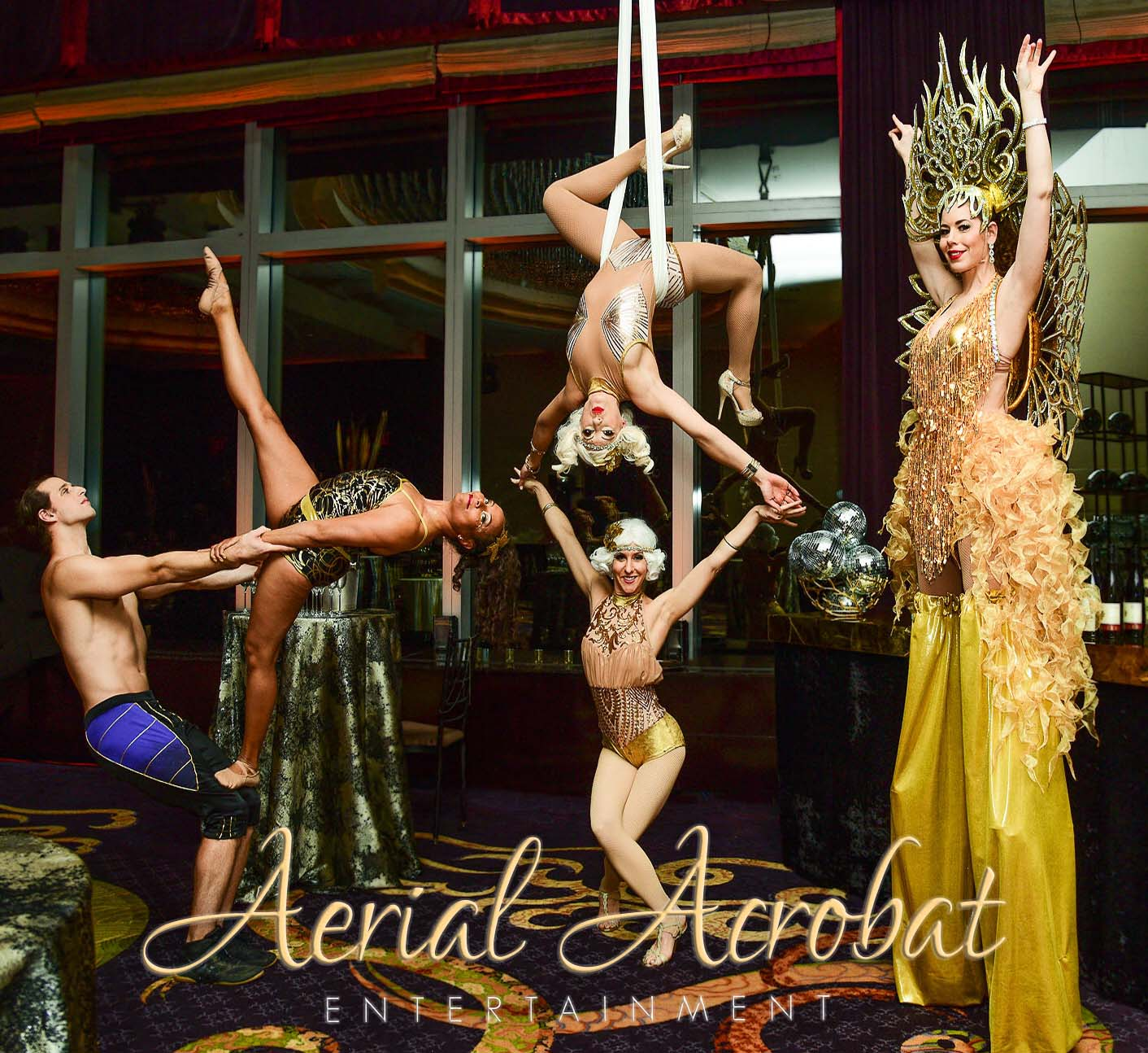 AAE Stilt Walker Aerialist and Acrobats-
