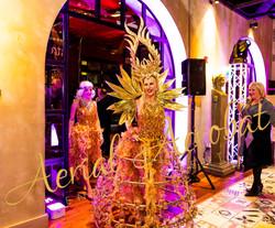 AAE Champagne Dress golden goddess