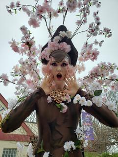 AAE Stilt Walker Cherry Blossom Showgirl