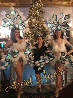 AAE Showgirls holiday white teal silver