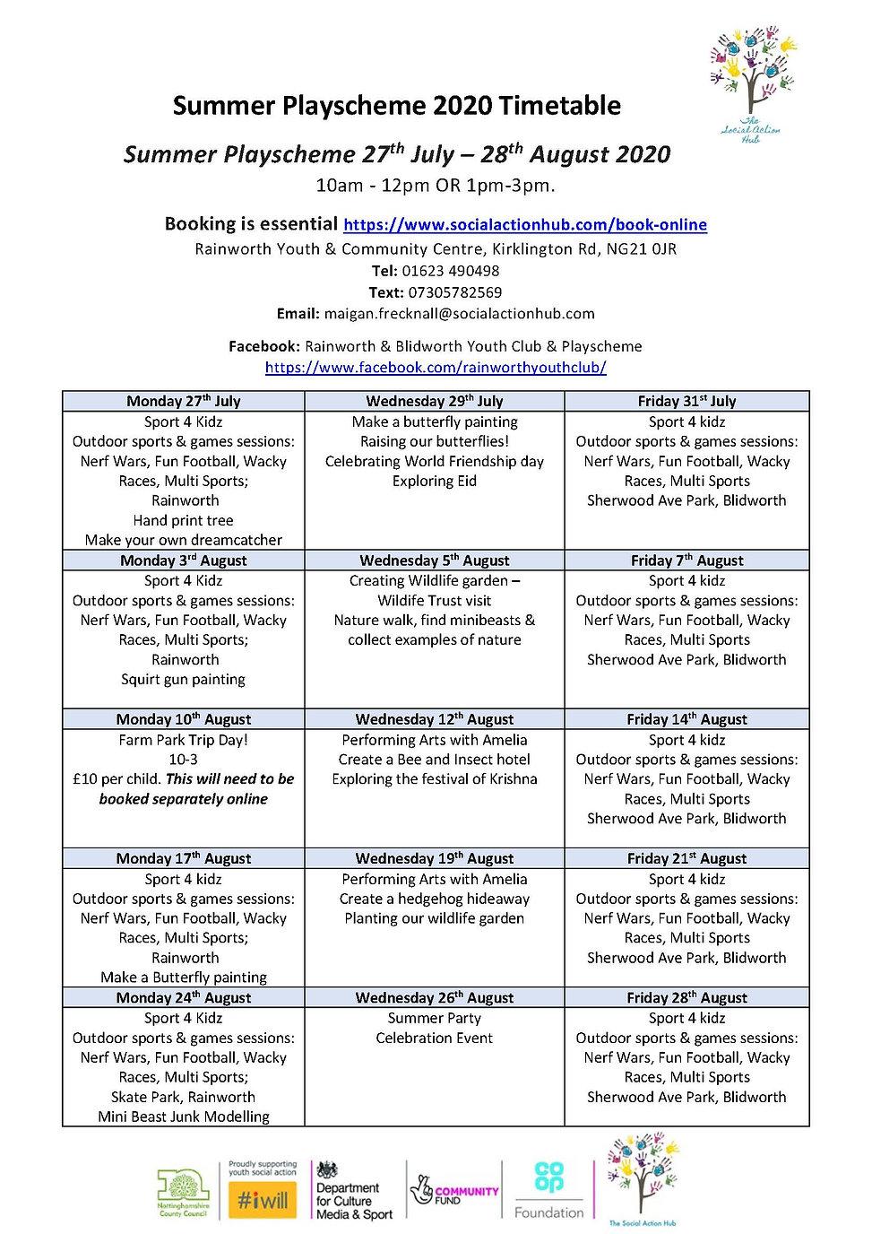 Summer Playscheme 2020 Timetable.jpg