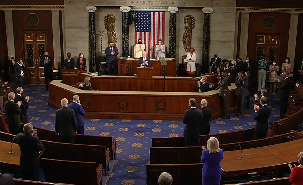 President Biden in Address to a Joint Session of Congress, April 28, 2021, U.S. Capitol