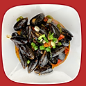 A8. Wok Tossed Mussels