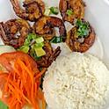 C13. Rice & Grilled Shrimps