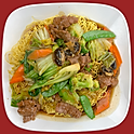 E25. Pan Fried Crispy Egg Noodles - Choice of Protein
