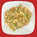 E22.  Fried Rice with One Choice of Shrimp, Beef, Chicken or Veggies