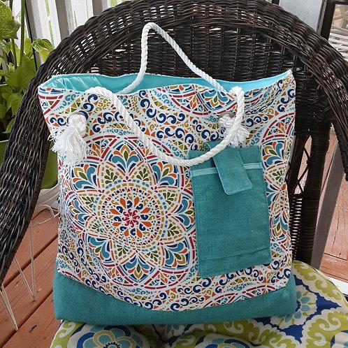 Colorful  Canvas Beach Handbag