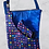 Thumbnail: Blue & color shaped Crossed Bag with matching Mask