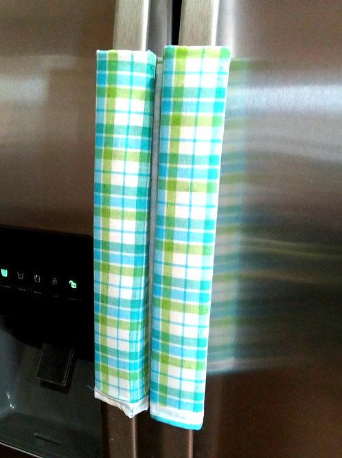 Blue & Green Fridge Handle Covers - Set of 2