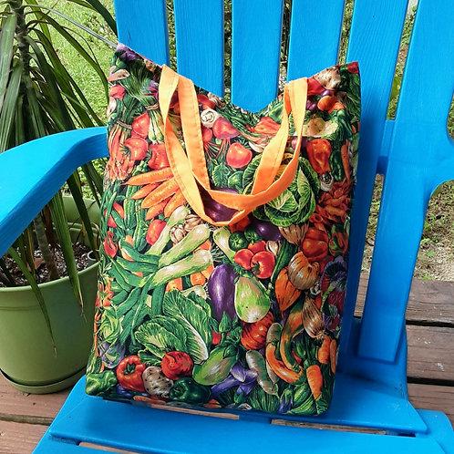 Simple Vegetable picnic handbag