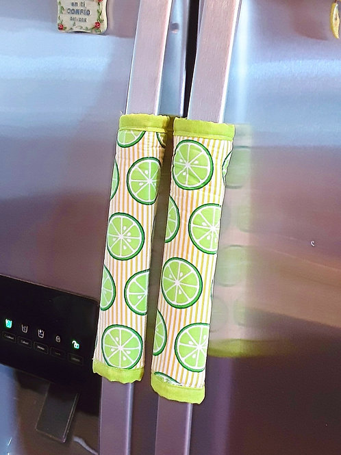 Kitchen handle covers - Limes  -Set of 3