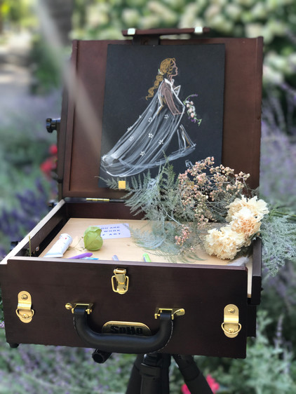 Walking down the aisle -- Pochade Box Display