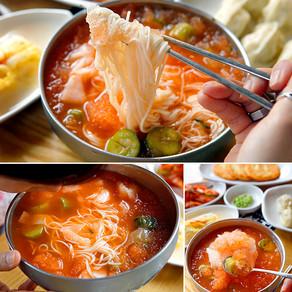 บะหมี่เย็นกิมจิแตงกวารสเด็ดร้าน Gaeseongjip (개성집)