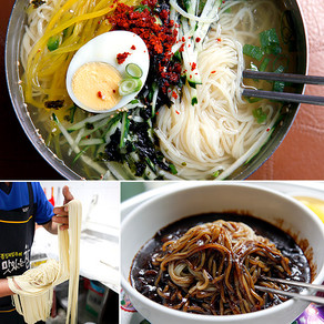 อูด้งเย็นจากร้านอาหารชินซอน เมืองอันดง (Sinseon Sikdang, Andong)