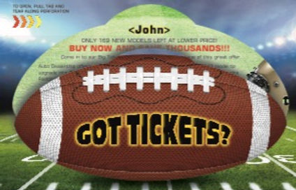 Pull Tab Football Self Mailer from Betty