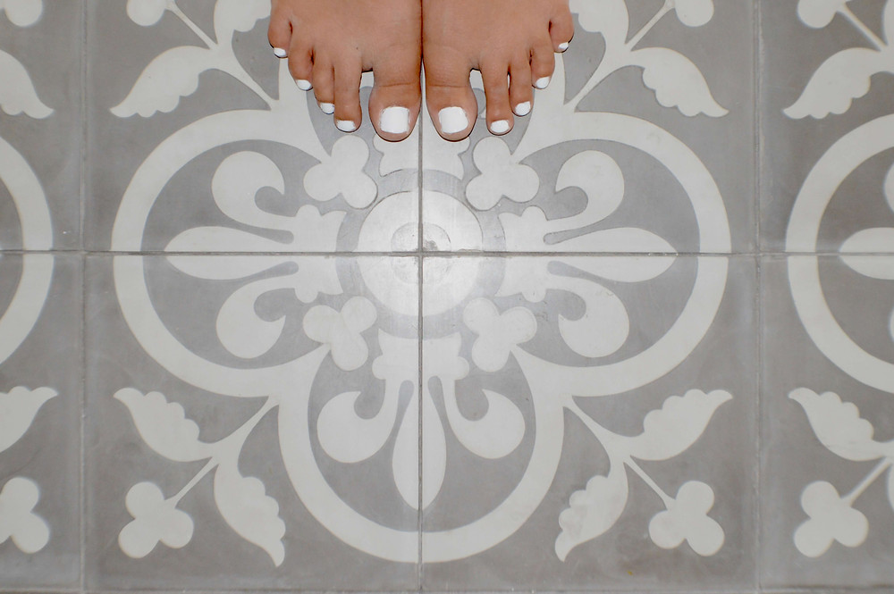 Stencil From floor tile pattern