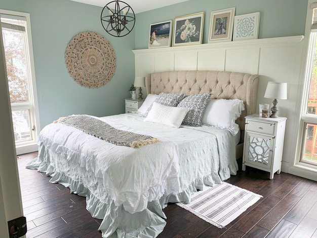 ONE PRETTY BED! A MINI MASTER BEDROOM REFRESH