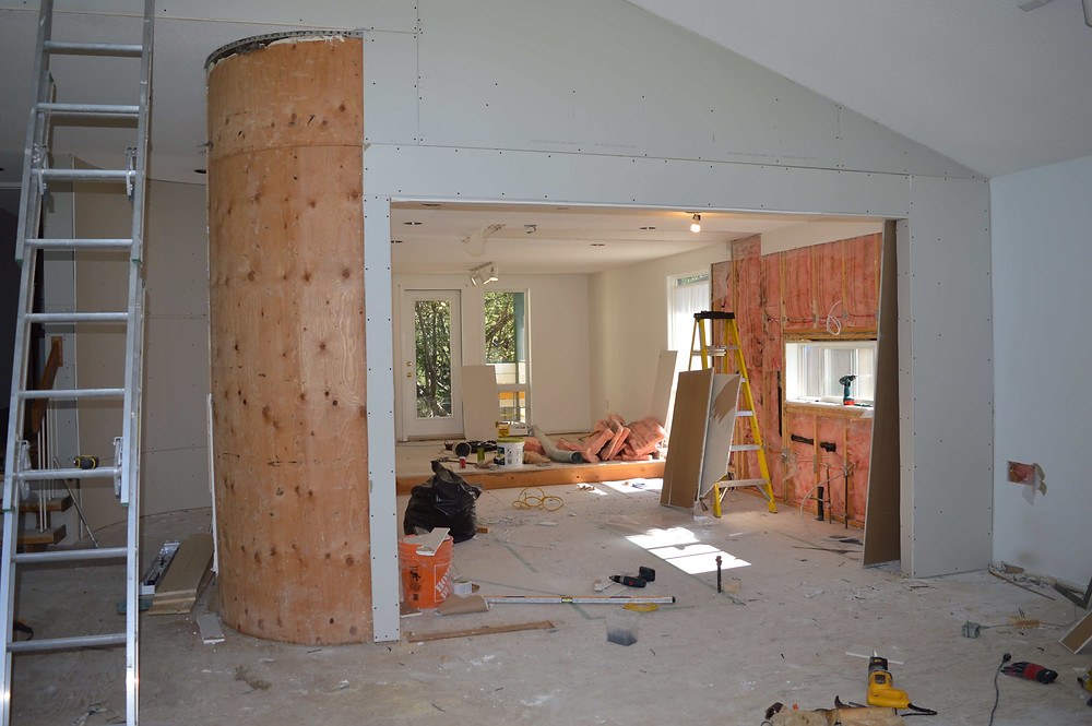 Opening the wall to the living room