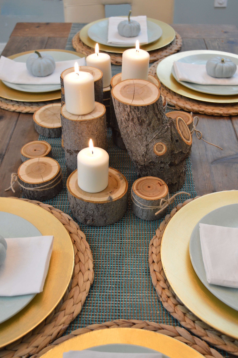 Elegant DIY Thanksgiving and Fall Table Setting