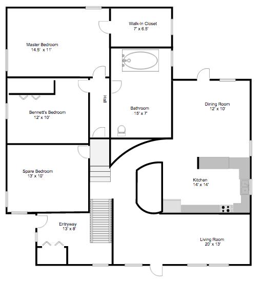 Floor plans before