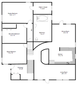 Floor plans before