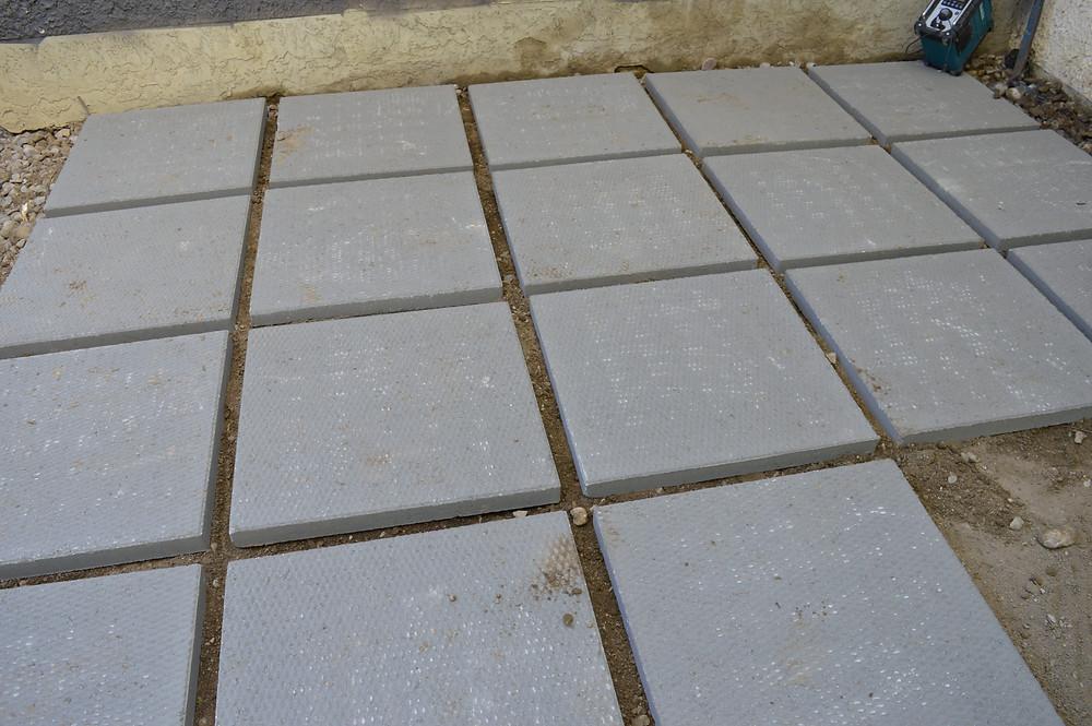 Patio Blocks for base under deck for storage