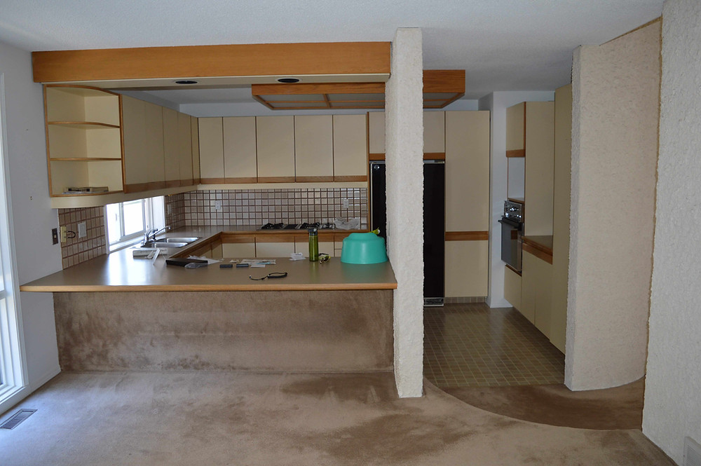 Old kitchen, before reno