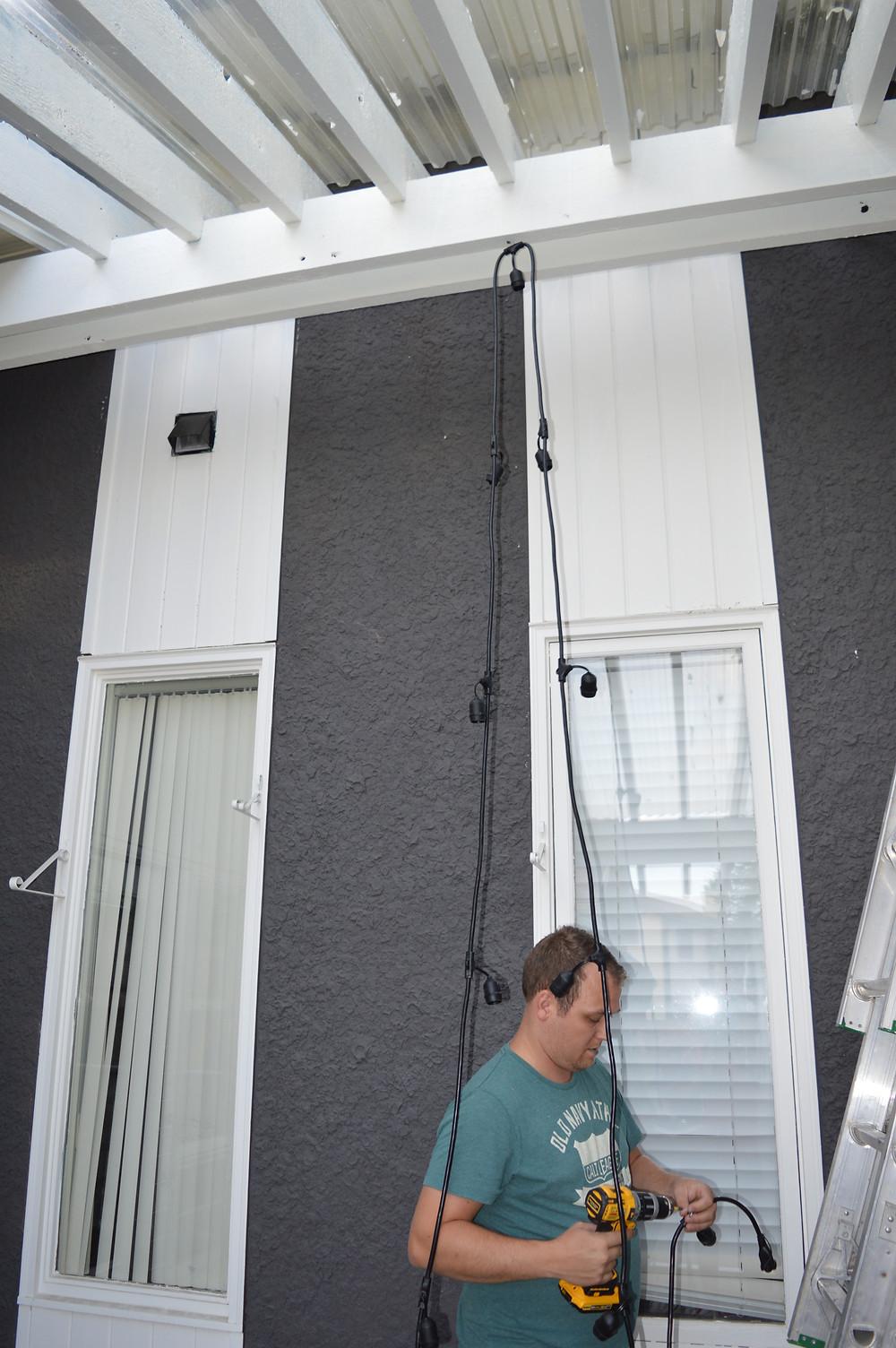 Hanging String Lights DIY