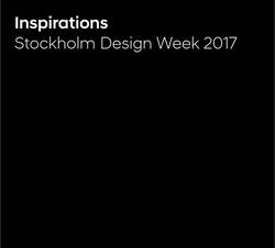 Stockholm Design Week 2016