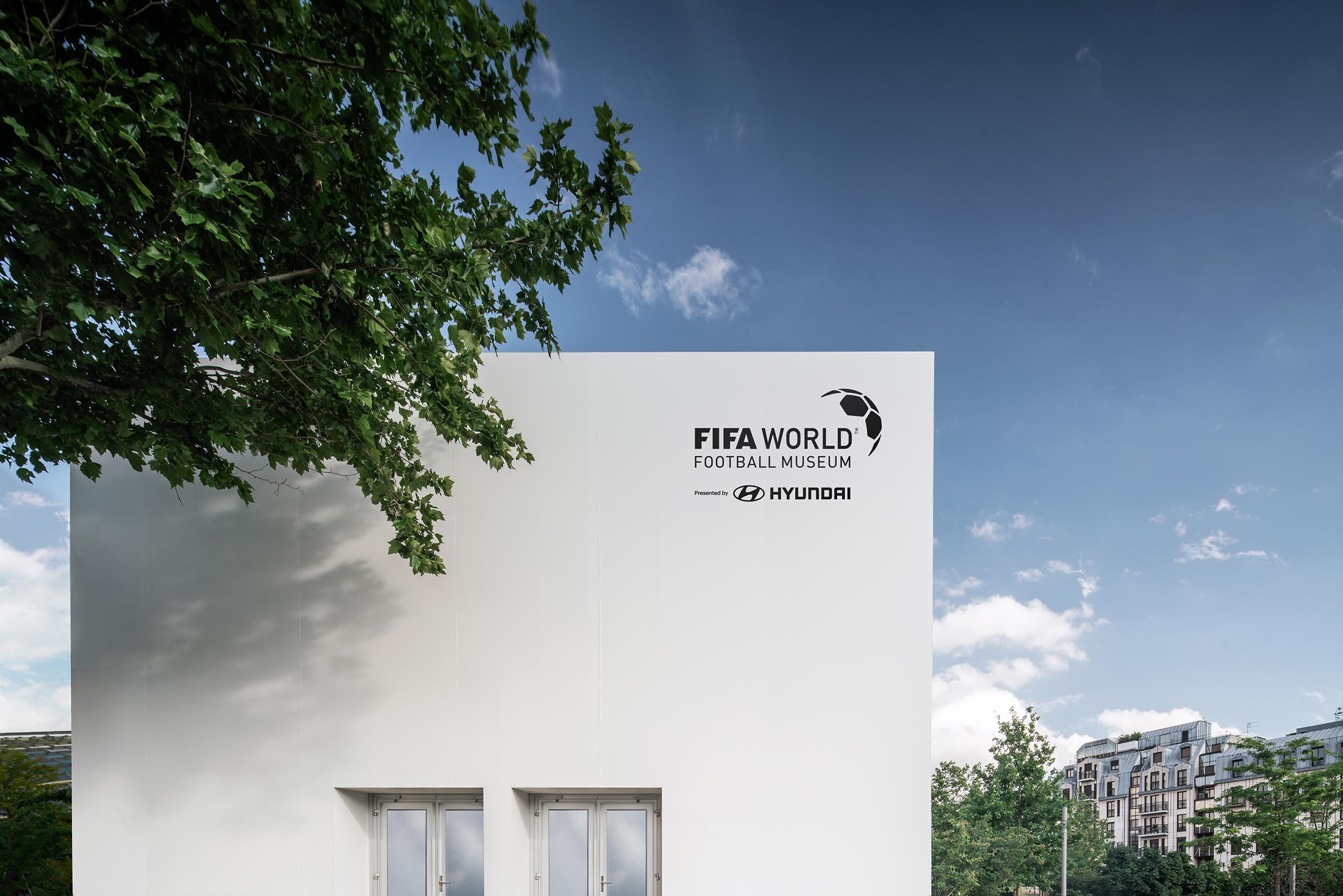 exterior with logo