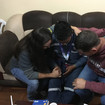 Praying with a friend after Bible study
