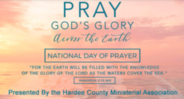 National Day of Prayer for Hardee