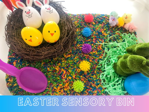 How to make an Easter Sensory Bin for Toddlers