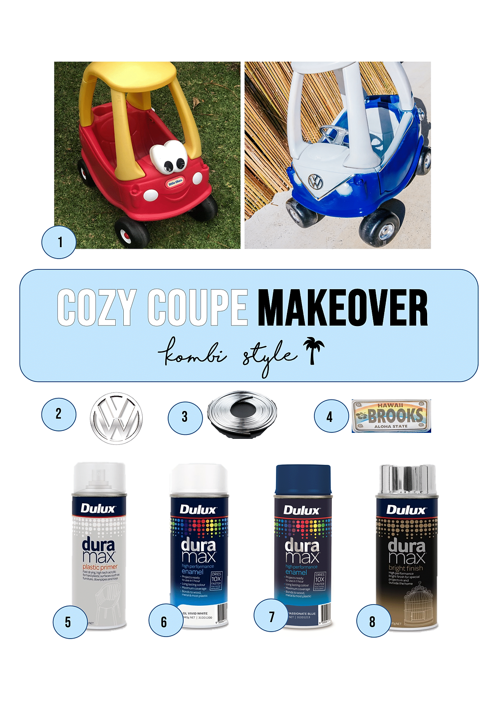 Cozy Coupe Makeover Hack