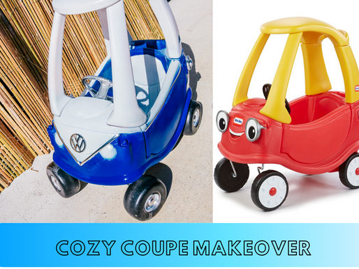 How to makeover a Cozy Coupe into a Kombi Van