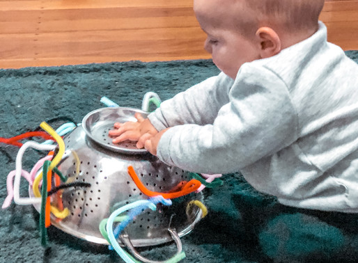 Sensory Play- Pipe Cleaners in a Colander