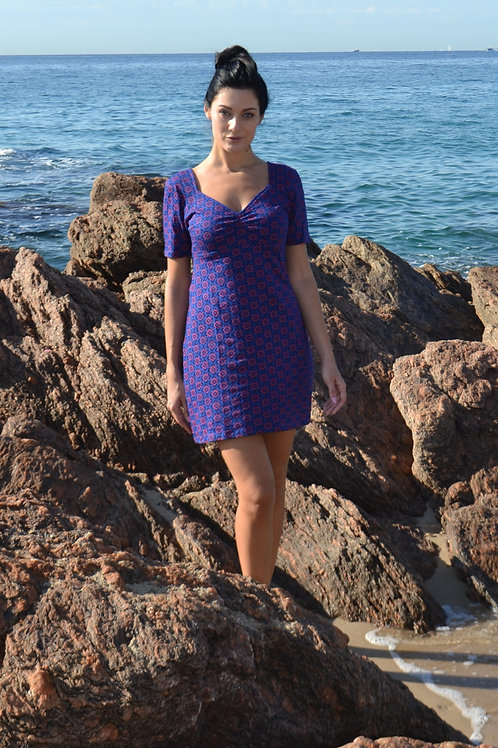 petite robe courte 100 % matière naturelle -SE241