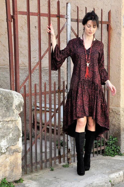 Robes Noir bohème chic -BW941